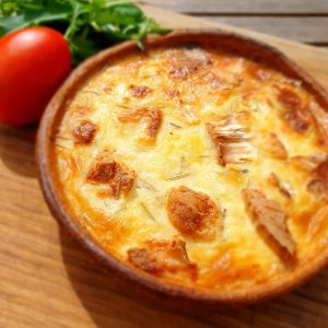Goats Cheese and Caramelised Onion Quiche