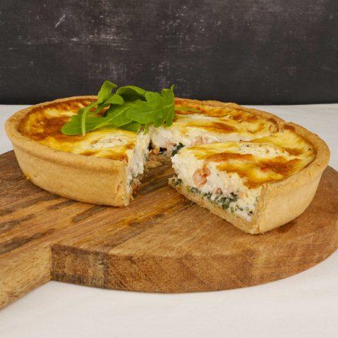 Smoked Salmon, Spinach and Cream Cheese Quiche